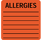 Item# 63-8421  ALLERGIC TO Label