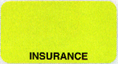 Item# UL007  'Insurance' Chart Label