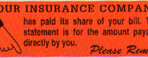 Item# UL1423  'Your Insurance Company…' Label