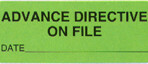 Item# UL589  'Advance Directive on File' Label