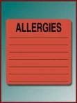Item# UL926  'Allergies' Listing Label
