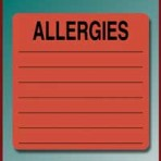 Item# UL926  'Allergies' Listing Label