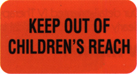 Item# V-AN001  'Keep Out of Children's Reach' Label