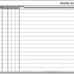 Item# 50-0021  Work Sheets