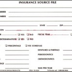 Item# 50-0220  Insurance Source File Cards