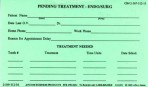 Item# 50-0231  Pending Treatment Cards-Endo/Surgery