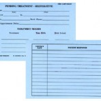 Item# 50-0250  Pending Treatment Cards-Restorative