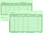 Item# 50-0271  Inventory Cards