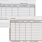 Item# 50-0273  Inventory Cards