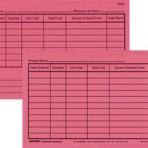 Item# 50-0275  Inventory Cards-Perio