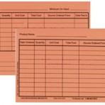 Item# 50-0276  Inventory Cards