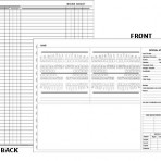 Item# 50-0300  Examination Chart/Work Sheet for Adults