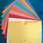 Item# 63-0317  Wider Colored File Pockets