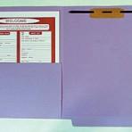 Item# 63-0521-1  Colored File Folders with Half Pocket & Fastener