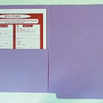 Item# 63-0521  Colored File Folders with Half Pocket