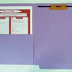Item# 63-0533-1  Heavy Weight Colored File Folders with Half Pocket &amp; Fastener