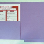 Item# 63-0533  Heavy Weight Colored File Folders with Half Pocket