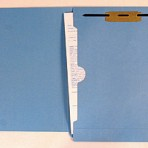Item# 63-0563-1  Colored File Folders with X-Ray Pocket & Fastener