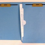 Item# 63-0563-2  Colored File Folders with X-Ray Size Pocket & Two Fasteners