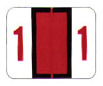Item# 63-8277  Tab Match Individual Number Labels-rolls