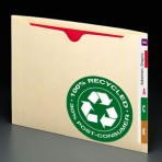 Item# 76530  Recycled End Tab Flat File Jacket