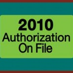 Item# MAP7210  2010 Authorizations Label, roll