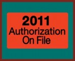 Item# MAP7211  2011 Authorizations Label, roll
