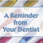 "Item# RC101  Dental Reminder Card ""Toothbrushes"""