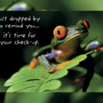 Item# RC121  Frog Checkup Recall Postcard