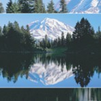 Item# RC132  Mountain with Lake Recall Card