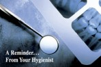 "Item# RC136  ""Reminder from Hygienist"" Dental Card"