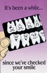 Item# RC143  &#8220;It&#8217;s Been Awhile&#8221; Dental Recall Postcard