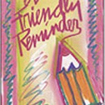 Item# RC152  Reminder Pencil Card