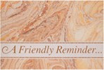 Item# RC157  Friendly Reminder Recall Card