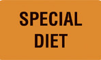 Item# V-AN223  'Special Diet' Label