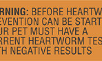 Item# V-AN229  'Warning Before Heartworm' Label
