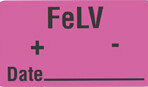 Item# V-AN268  'FeLV +/- Date' Label