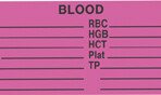 Item# V-AN270  'Blood Work List' Label