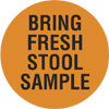 Item# V-AN299  'Bring Fresh Stool' Label