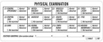 Item# V-AN319  Physical Exam Label