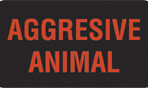 Item# V-AN486  'Aggressive Animal' Label