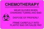 Item# V-ON301  'Chemo Wear Gloves' Label