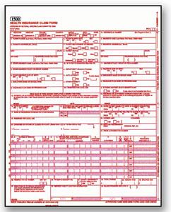 Item# WCMS1500CS CMS 1500 HCFA Claim Form - Laser