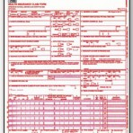 Item# WCMS1500U2 (Red)  CMS 1500 HCFA Claim Form – Two Part Snap Set