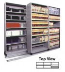 Item# 30-4752  3/2 Bi-File Lateral Track System with 36″ wide Cabinets