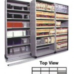 Item# 30-4754  4/3 Bi-File Lateral Track System with 36&#8243; wide Cabinets