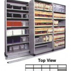 Item# 30-4757  5/4 Bi-File Lateral Track System with 42&#8243; wide Cabinets