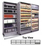 Item# 30-4758  6/5 Bi-File Lateral Track System with 36″ wide Cabinets
