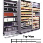Item# 30-4758  6/5 Bi-File Lateral Track System with 36&#8243; wide Cabinets
