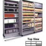 Item# 30-4761  3/2 Bi-File Lateral Track System with 48″ wide Cabinets